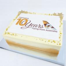 Корпоративный торт с эмблемой