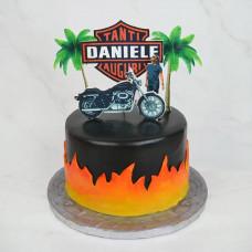 Корпоративный торт с логотипом Harley-Davidson