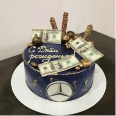 Корпоративный торт с logo