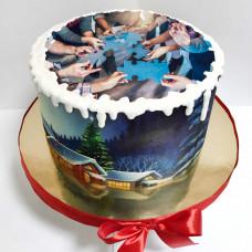 Торт на корпоратив к Новому году