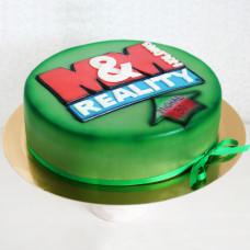 Торт с логотипом фирмы