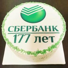 Торт с логотипом Сбербанка