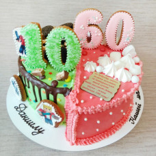 Торт на двойной юбилей