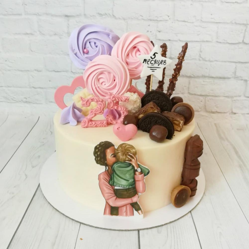 Торт на двойной день рождения