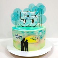 Торт на двоих мужу и сыну