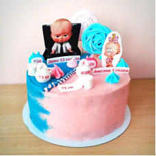 Торт для папы и дочки на двоих
