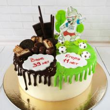 Торт на двоих папе и сыну