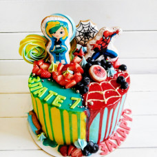 Торт для двоих без мастики