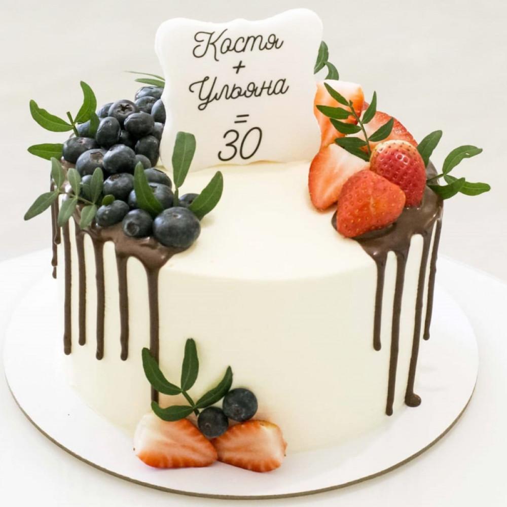 Двойной торт для мужчины и женщины