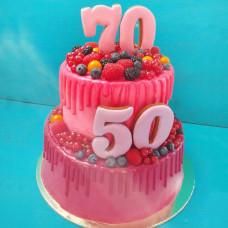 Торт для двух юбиляров