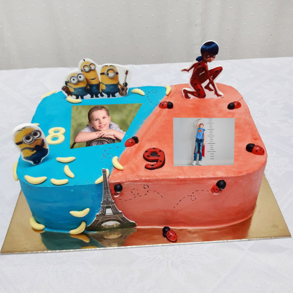 Торт для двоих именинников