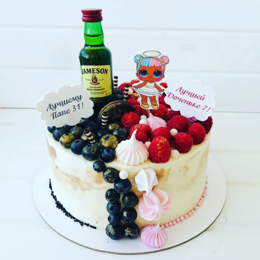 Двойной торт для папы и дочки