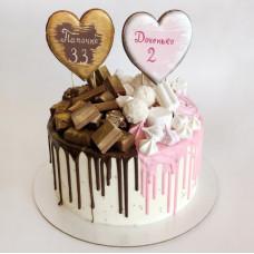 Торт для двух именинников разного возраста