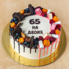 Торт на юбилей 65 лет на двоих