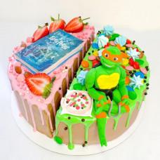 Двойной торт для брата и сестры
