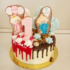 Торт для двоих детей мальчика и девочки