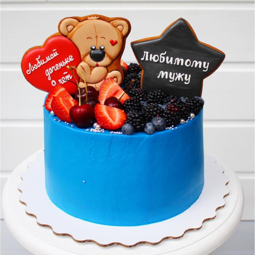Парный торт для папы и дочки