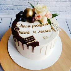 Двойной торт на день рождения папы и мамы