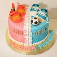 Торт для двоих детей разного возраста