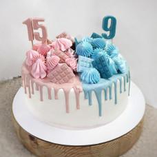 Торт для двоих детей