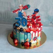 Парный торт для двоих на двойной день рождения