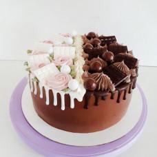 Двойной шоколадный торт