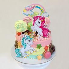 Торт для двоих девочек