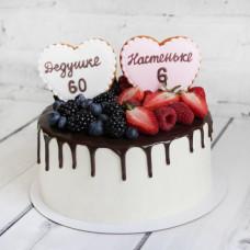 Двойной торт без мастики