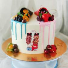 Двойной торт девочкам