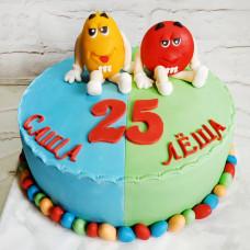 Двойной торт для мальчиков