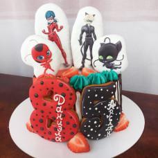 Торт на двойной день рождения детей
