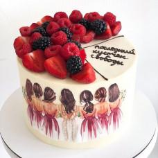 Классический торт на девичник