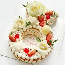 Торт обручальное кольцо на девичник