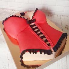 Торт в виде женского корсета