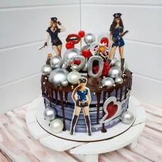 Торт на тематический мальчишник