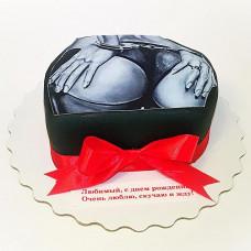 Торт с сексуальной попой на день рождения