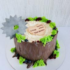 Торт с надписью любить и пилить я тебя буду вечно