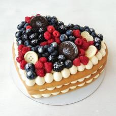 Торт с печеньем Орео на 14 февраля
