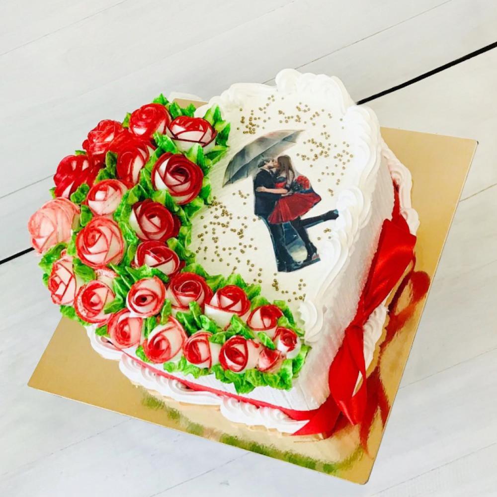 Романтичный торт на 14 февраля