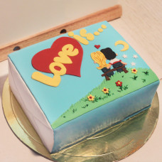 Торт love is на 14 февраля