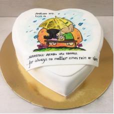 Торт Лав из на День Святого Валентина