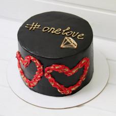 Торт на праздник День святого Валентина