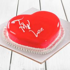 Муссовый торт на день влюбленных