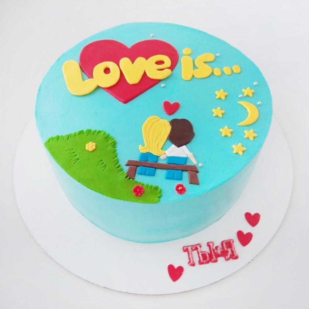 Торт на 14 февраля мужчине