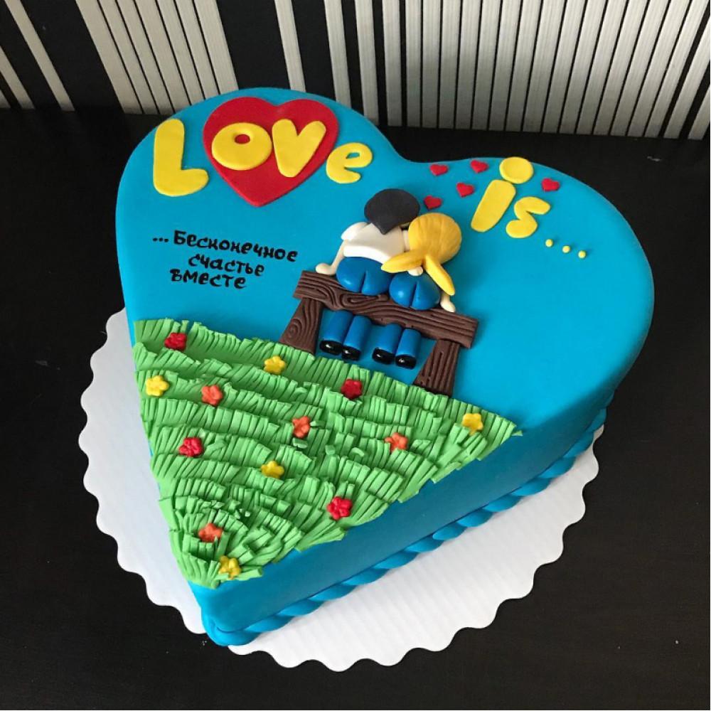 Торт на 14 февраля в стиле Love is
