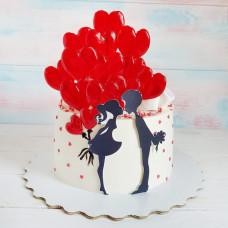 Торт на День Святого Валентина для девушки