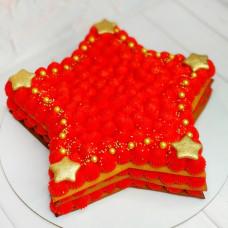 Торт красная звезда на 23 февраля