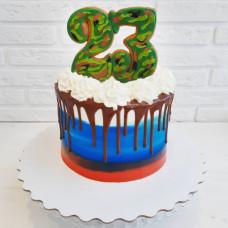 Кремовый торт на День Защитника Отечества