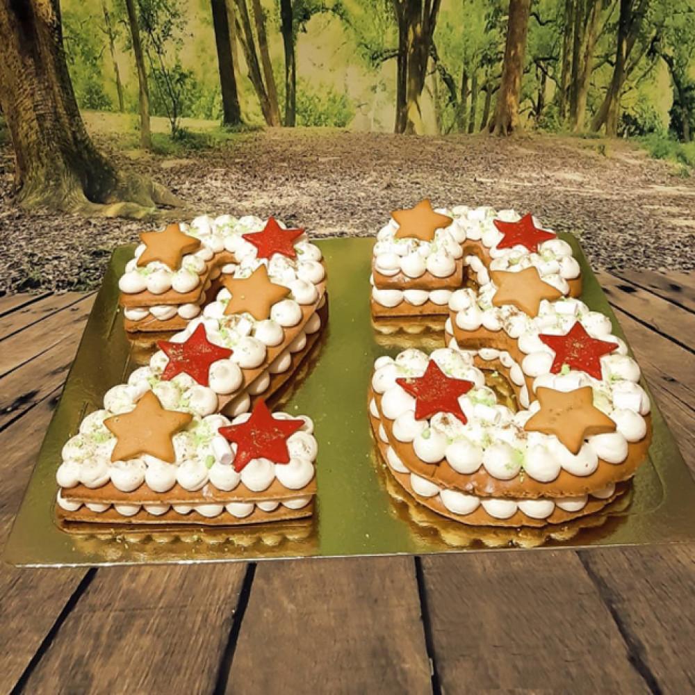 Торт цифра 23 на День Защитника Отечества
