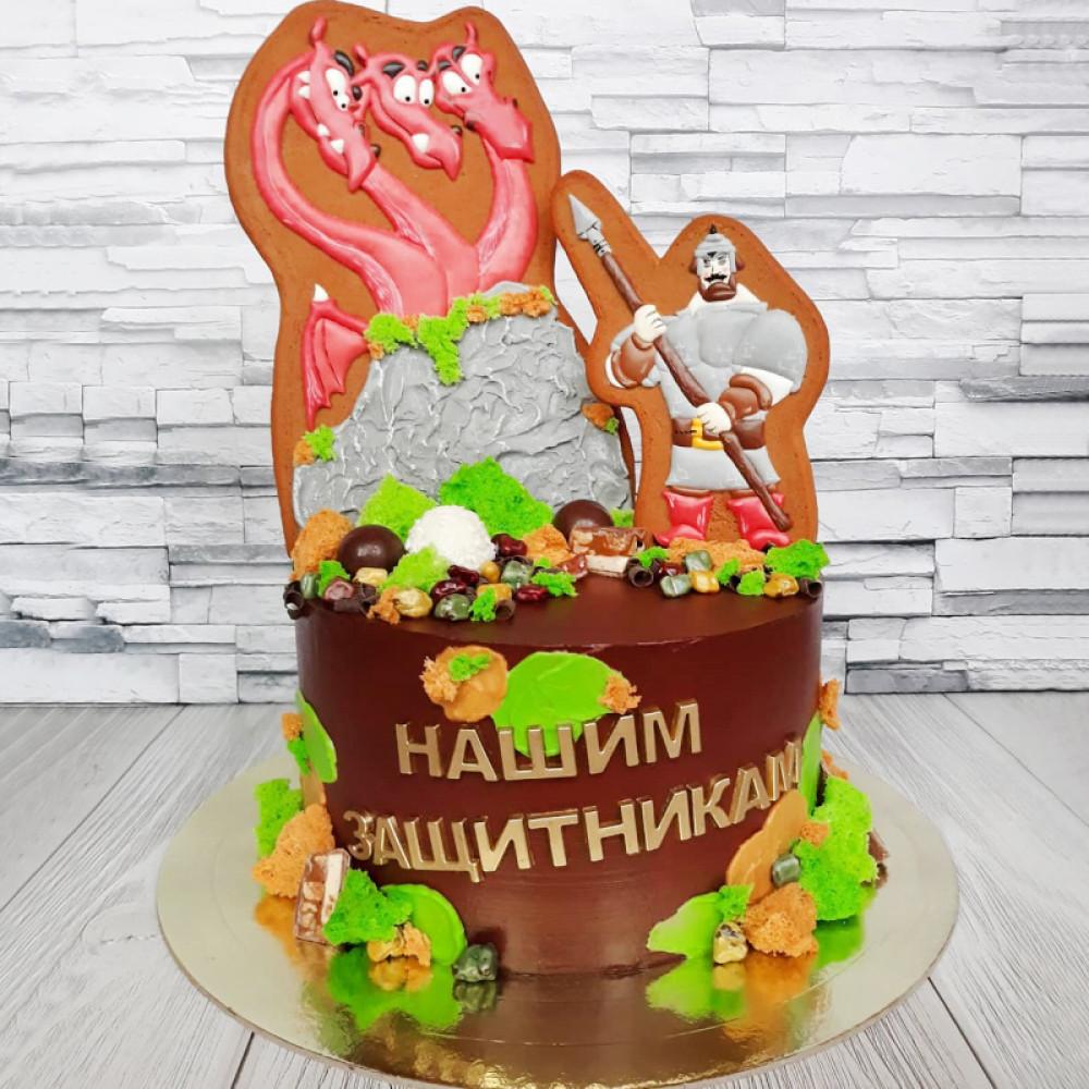 Тематический торт на День Защитника Отечества
